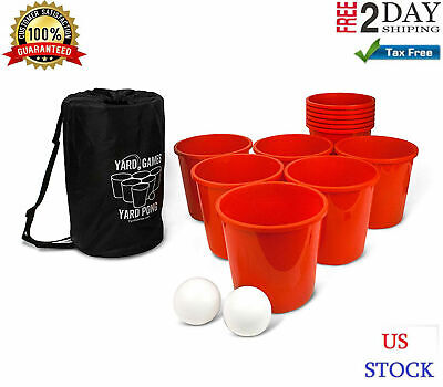 Jumbo Outdoor Games Giant Yard Pong Big Fun For Adults Teen Kids Best Toy