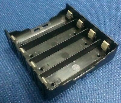 Battery Box Holder Batteries Case For 4x 18650 In Parallel 3.7v Pole Soldering