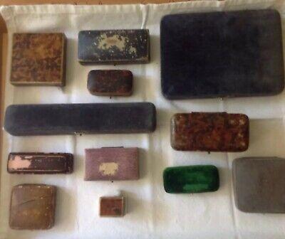 Twelve Vintage / Antique Jewellery boxes