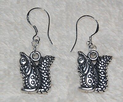 Squirrel Earrings Alpha Gamma Delta Sterling Silver Wire
