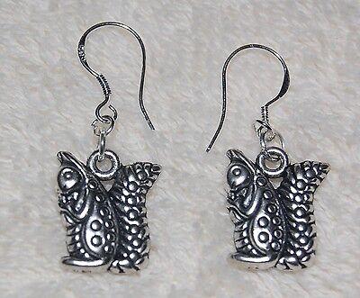 Squirrel Earrings Alpha Gamma Delta Sterling Silver Wire