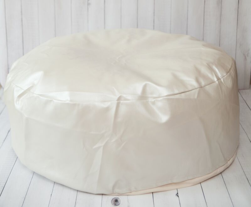 Studio Size Leather Newborn Posing Bean Bag - Infant Poser Pillow -Photo Prop