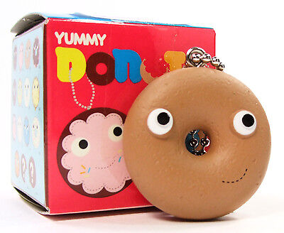 Yummy Donut - Kidrobot Yummy Donuts Series DUNKER - PLAIN CAKE DONUT Keychain Zipper Pull