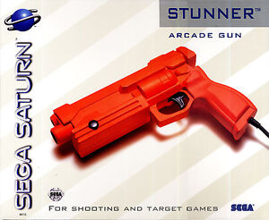 Brand NEW Sega Saturn STUNNER Light Gun NIB