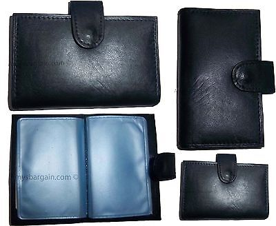 Lot Of 4 Leather Business Card Case Credit Card Case Black Business Id Case Bn