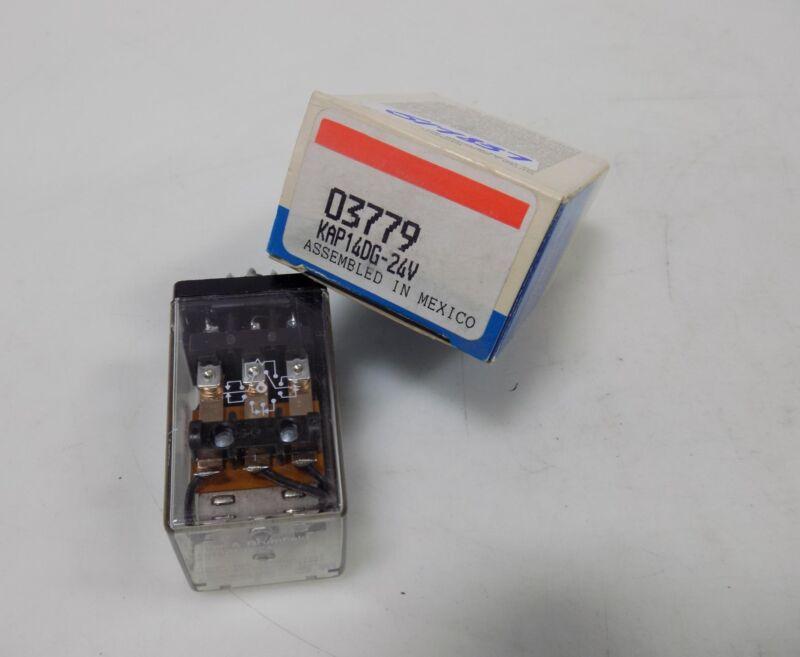 POTTER & BRUMFIELD 24V PLUG IN RELAY KAP-14DG-24 NIB