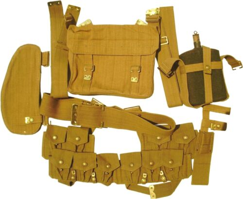 UK WWI P08 WEBBING SET WITH PUCKERED POUCHES