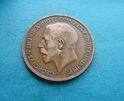1922 Penny, George V. Good Condition.