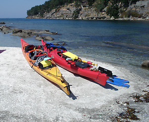 Kayaks for a Couple - Lake/Ocean Sit In Kayaks with Rudder