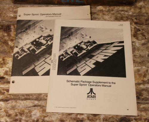 Super Sprint Operators Manual Arcade Game Schematics Manual Coin-op Atari
