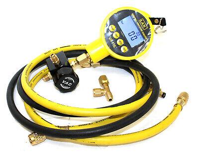Hvac Single Digital Manifolds Refrigeration Ac Vacuum Gauge Meter Hoses Kit