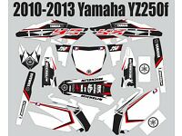 "YAMAHA 2006-09 YZ250F YZ450F 4-STROKE GRAPHICS /""THE FREAK SHOW/"" 4 BLUE PLASTICS"