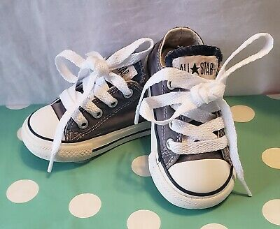 Converse All Star Toddler Size 5 Gray Low Shoes