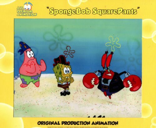 """FABULOUS""  ALL 3  ONLY HERE ! ""THE VERY BEST""! Spongebob Prod CEL ""ARRGH"" #8215"