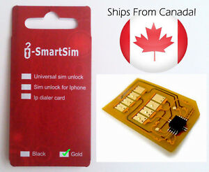 NEW iSmartSim HYPERSIM Unlock Docomo & SoftBank SH Japan Phone Sim Card - GOLD
