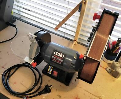 Ozito 240W Bench Grinder/Belt Sander