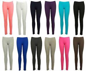 WOMENS-NEW-PLUS-SIZE-STRETCH-TROUSERS-LADIES-PLAIN-ELASTICATED-LONG-LEGGINGS