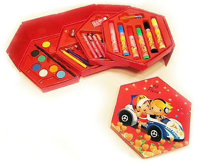 - Art Set for Kids: Kit with Child Arts Craft Supplies in Storage Box, 46 Pieces