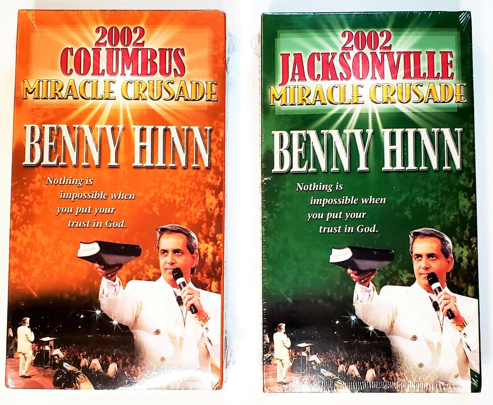 2 VHS Sermons By Benny Hinn - MIRACLE CRUSADE 2002 Columbus Jacksonville - $12.88