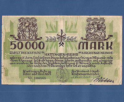 HATTINGEN Kirchengemeinde Peter und Paul 50.000 Mark 1923  IV / F