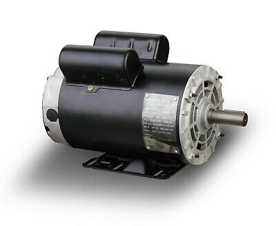 5hp Spl 3450rpm Air Compressor Electric Motor 230volt 1 Phase 58 Shaftb385
