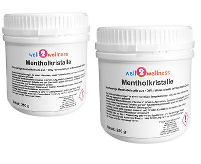 Menthol Crystals/Menthol Crystals/Sauna Crystals - 500g (2 X 250g Cans)