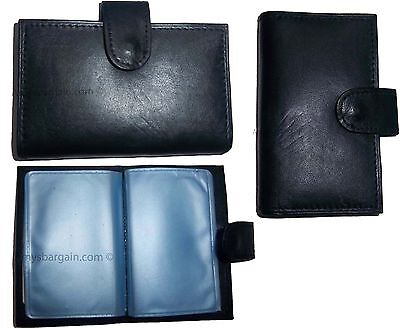 Lot Of 3 Leather Business Card Case Credit Card Case Business Id Photo Case Bn