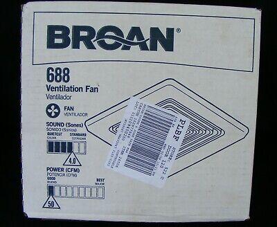 Broan Nutone 50 Cfm 4.0 Sone Ceiling Mounted Bathroom Ventilation Fan 688