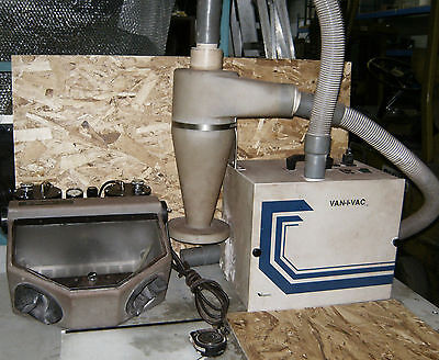 Vaniman Sand Storm Microblaster With Van-i-vac Dust Collector System