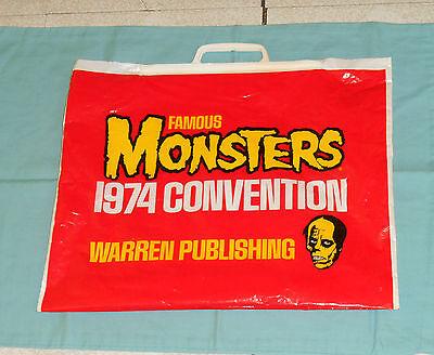 vintage Warren Publishing FAMOUS MONSTERS magazine 1974 CONVENTION SHOPPING BAG