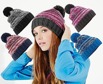 Unisex Slalom Boarder Winter Beanie Bobble Hat Unisex Winter-beanie