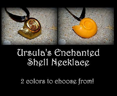 Ram Horn Ursula Sea Witch Enchanted Golden Shell Ariel Mermaid Voice Necklace - Ursula Necklace
