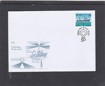 Estonia  2018 Research Ship Mare First Day Cover FDC Tallin special h/s