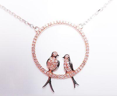 Argyle Rosa Diamant - Halsketten & Anhänger 0.50ct Natürlich Kostüm Pink - Kostüm Diamant Halskette