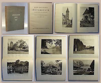 Hielscher Österreich 1928 Reisebildband Orbis Terrarum Reise Ortskunde Fotos xz