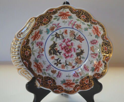ANTIQUE SPODE CHINESE FAMILLE ROSE DECORATED SHELL DISH