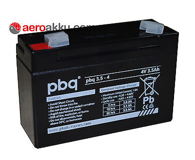 pbq 3.5-4  4V 3,5Ah wie Sonnenschein A504 3,5S Handlampenakku FRISCHEWare