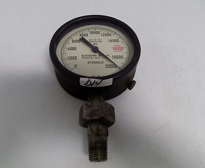 Marshalltown Hydraulic 0-20000 Lbs On 1544 Diameter Ram Gauge