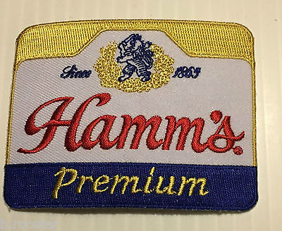 Hamm's Beer Patch Embroidered Ale 3-1/2 inch Iron on Ale