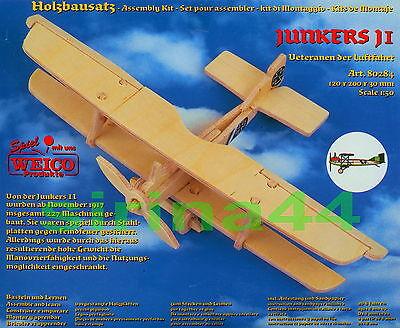 "3D-Puzzle Modellbausatz Flugzeug ""Junkers J 1"" Holz 12x20x3 cm 1:50 ab 8 Jahre"