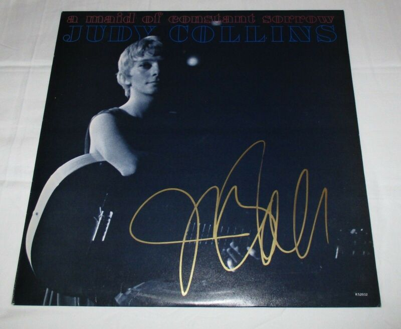 JUDY COLLINS SIGNED A MAID OF CONSTANT SORROW VINYL RECORD