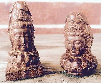 Vintage Buddha Head Statue (8522) (Pair)