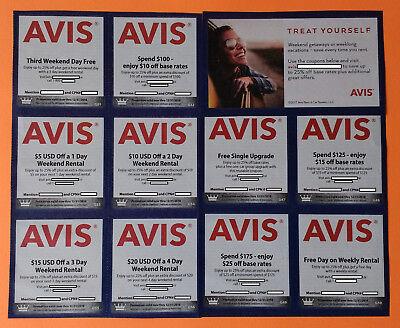 Avis Car Rental X 11  Savings On Car Upgrades Weekly Weekend Base Rate See Pics