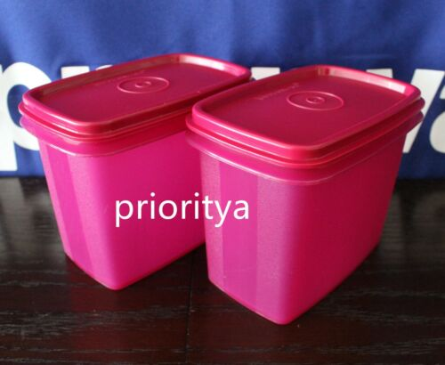 Tupperware Shelf Savers Dry Foods Goods Container Canister Set of 2 Radish New