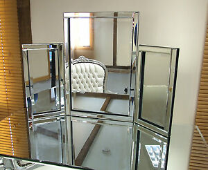 new dressing table mirror free standing venetian tri fold bedroom mirror ebay. Black Bedroom Furniture Sets. Home Design Ideas