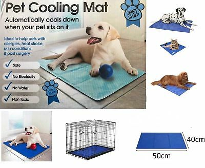 Pet Dog Cat Cool Mat Self Cooling Gel Mat Pad Bed Mattress Heat Relief Non-Toxic