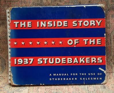 1937 Studebaker salesman's manual