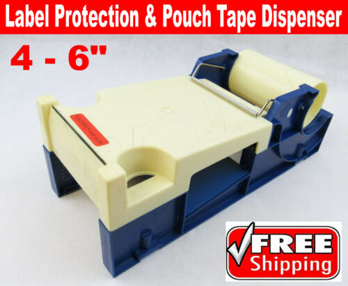 """4 - 6"""" Label Protection and Pouch Tape Dispenser Industrial Packing Boxes Bags"""