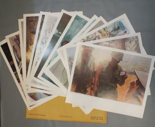 1968 Marine Corps Combat Art Collection GPO Lithographs 16 Prints Lot set LF973
