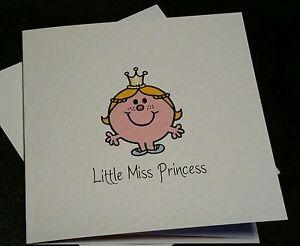 *MR MEN* *LITTLE MISS* Cards.. Princess.. Strong.. Bump.. Perfect.. Silly.. Hug